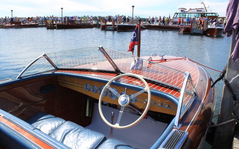 """""""Legend"""" a 23' 1942 Chris Craft Custom Runabout the only year for silver gauges Brent Gatecliff Waterford, Michigan"""