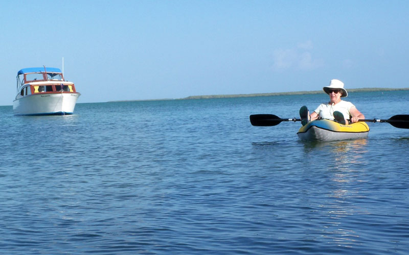 at anchor in the keys