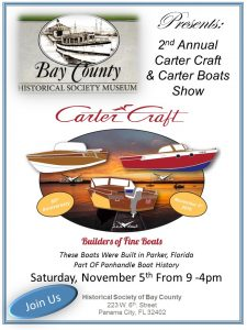 Bay Historical Society Carter Craft Boat Show @ Historical Society of Bay County  | Panama City | Florida | United States