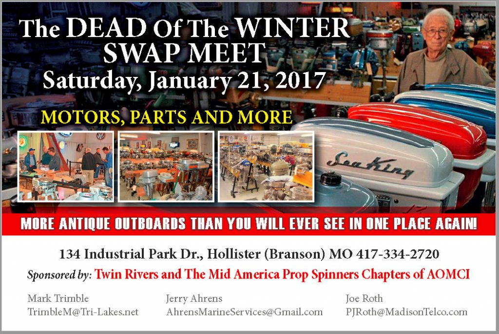 Dead of the Winter 2017 Antique Outboard Swap Meet @ Hollister | Missouri | United States